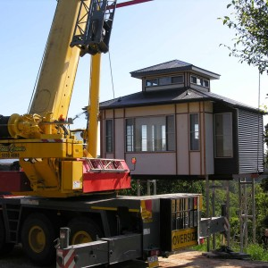 Prefabricated house install | PTMA Architecture
